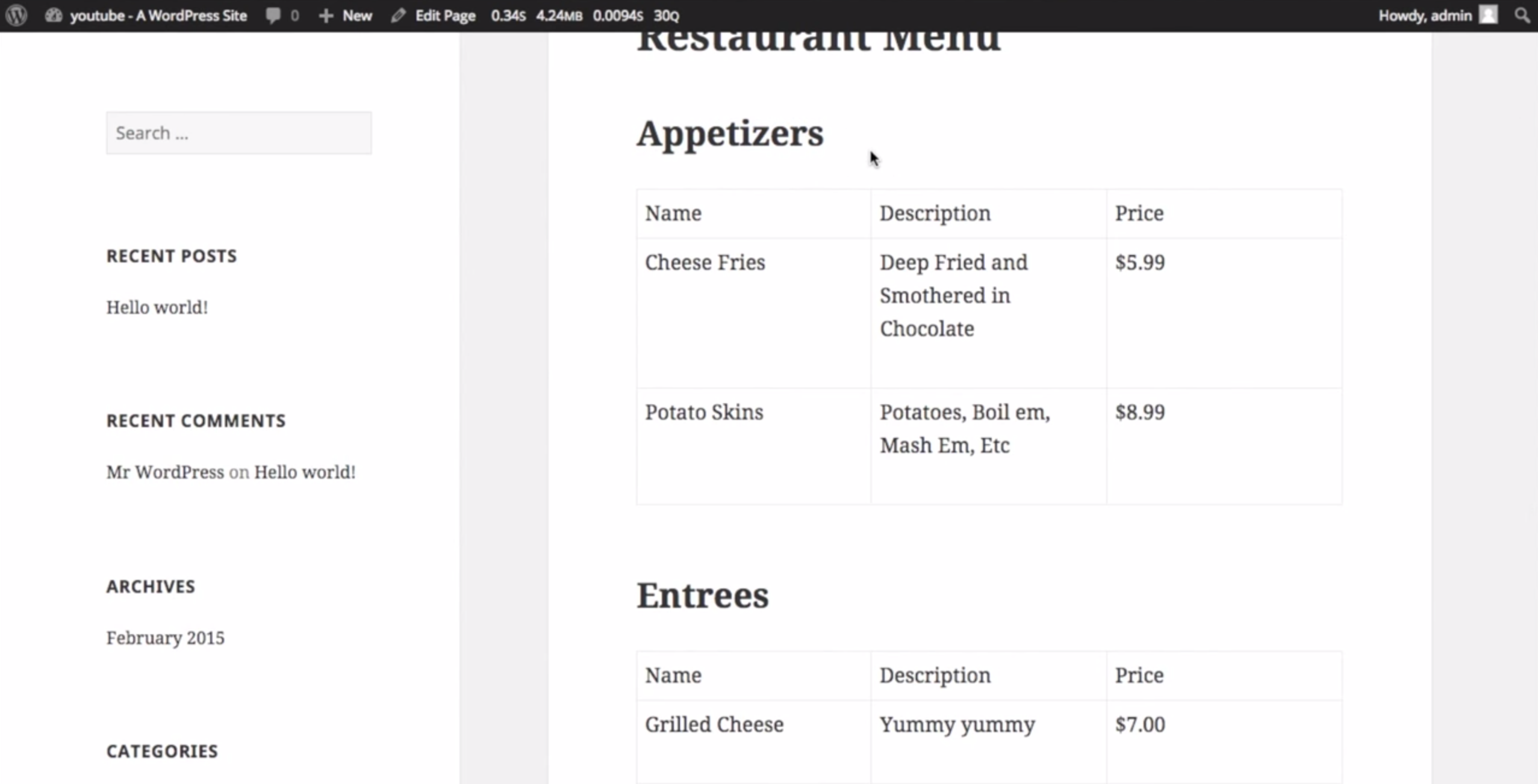 Video: Nested Repeater Fields & Restaurant Menus