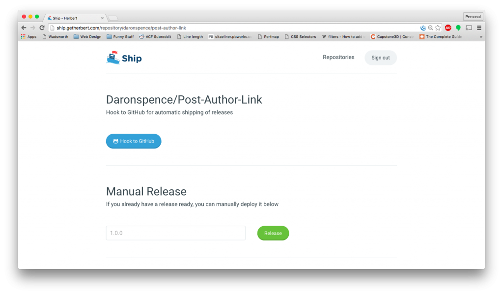 Hook Ship to your GitHub repo